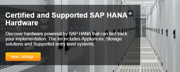 SAP HANA TDI certified